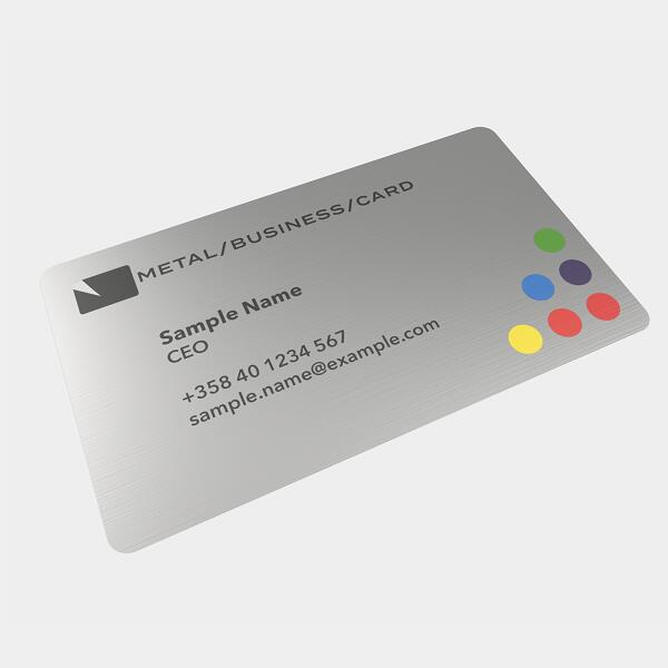 Brushed metal business cards Featured Image