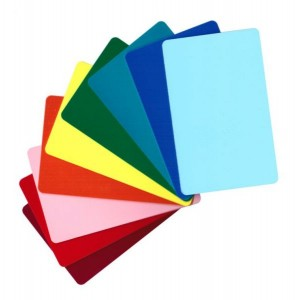 Blank white & coloured cards