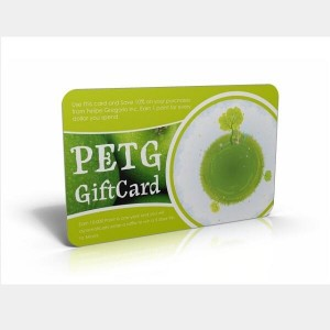 cartes en plastique Eco friendly PETG