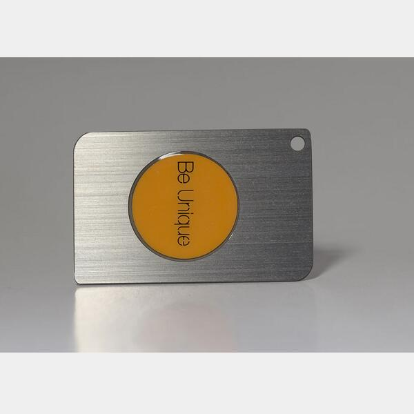 Gebürstetem Metall Visitenkarten Imc Plastikkarten