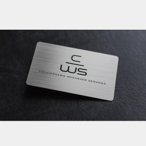Brushed Metal Cards
